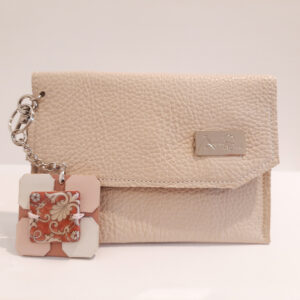 Mini bag : Bustina porta mascherina in pelle beige