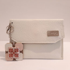 Mini bag : Bustina porta mascherina in pelle bianca